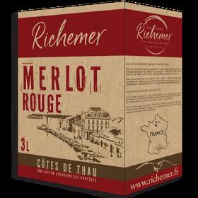 3 Liter BIB Merlot Rouge, Côtes de Thau IGP