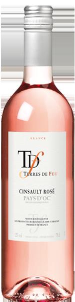 2018 Cinsault Rosé, 'Terres de Feu', Vin de Pays d'Oc