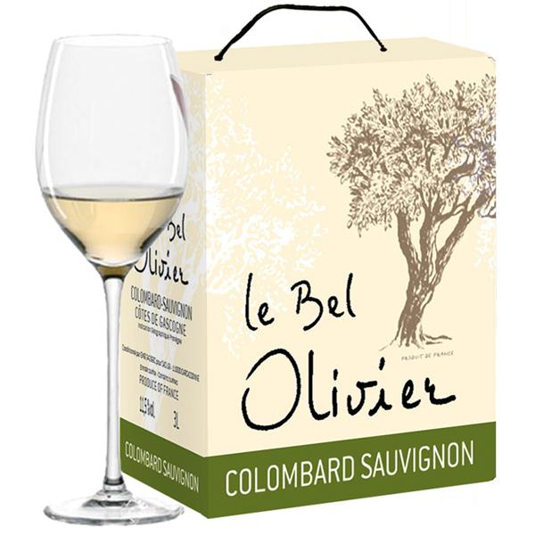 3 Liter Le Bel Olivier, IGP Côtes de Gascogne, BIB, Frankreich