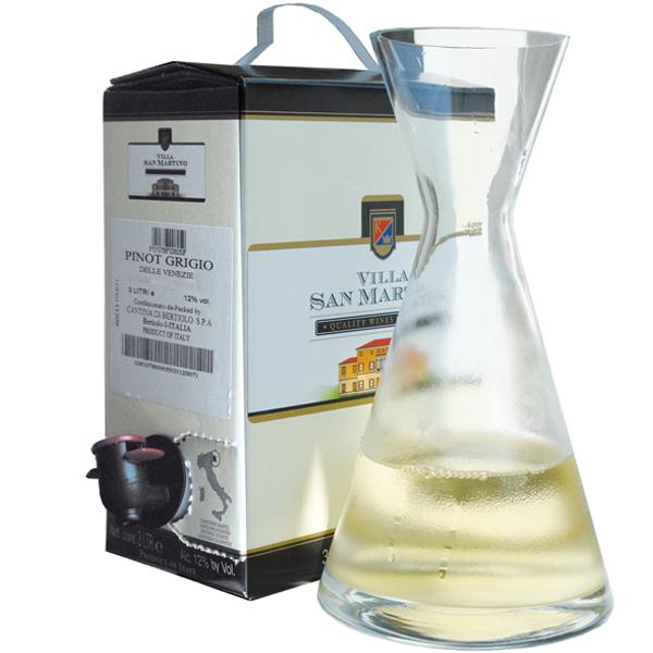 3 Liter BIB, Pinot Grigio delle Venezie DOP, Villa San Martino