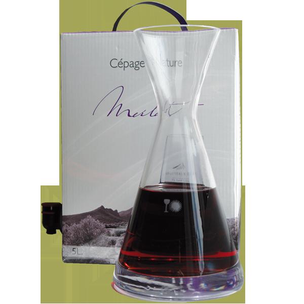 5 Liter BIB Rouge, Merlot 'Cépage Nature', Pays d'Oc IGP