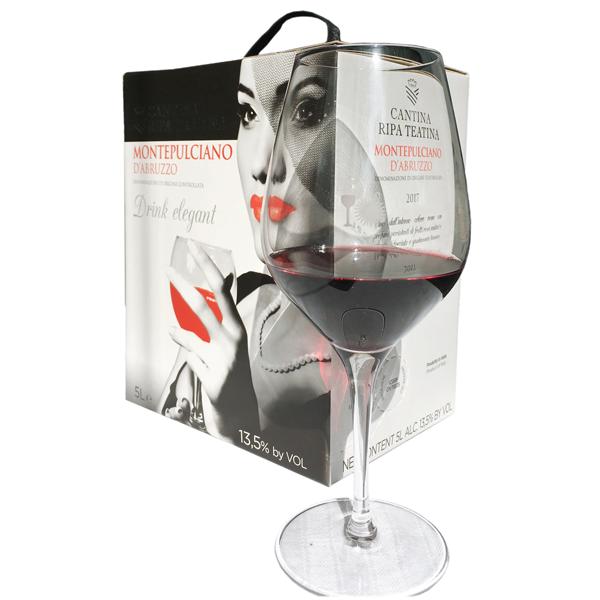 5 Liter BIB Rosso, Drink Elegant, Montepulciano d'Abruzzo DOC