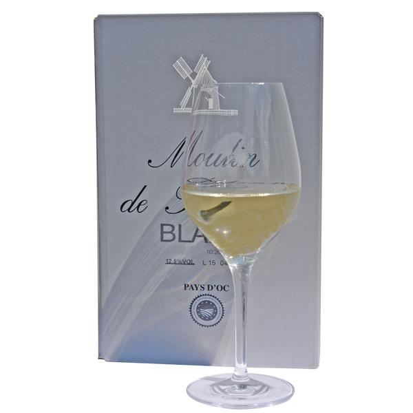 5 Liter BIB Blanc, 'Moulin de Plétanne', Pays d'Oc IGP