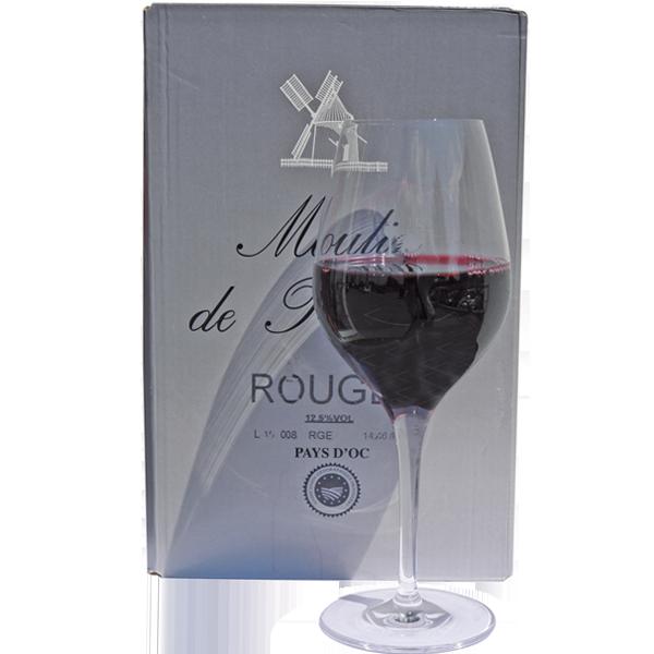 5 Liter BIB Rouge, 'Moulin de Plétanne', Pays d'Oc IGP