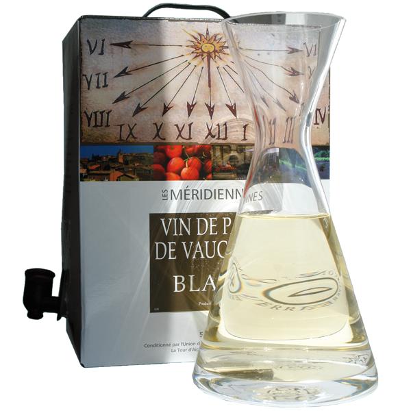 5 Liter BIB Blanc, Les Méridiennes, Vin de Pays de Vaucluse