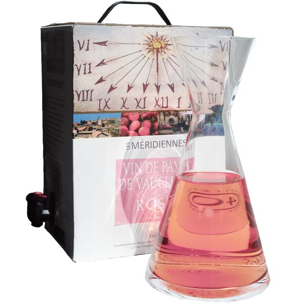 5 Liter BIB Rosé, Les Méridiennes, Vin de Pays de Vaucluse